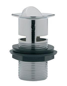Tre Mercati Unslotted Flip Plug Basin Waste With Solid Plug