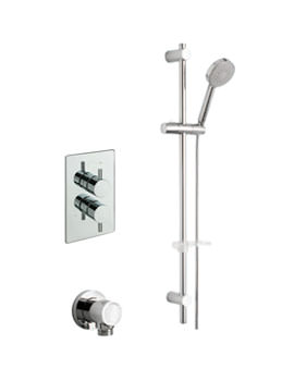 Tre Mercati Bella Thermostatic Valve With Slide Rail Kit And Wall Outlet