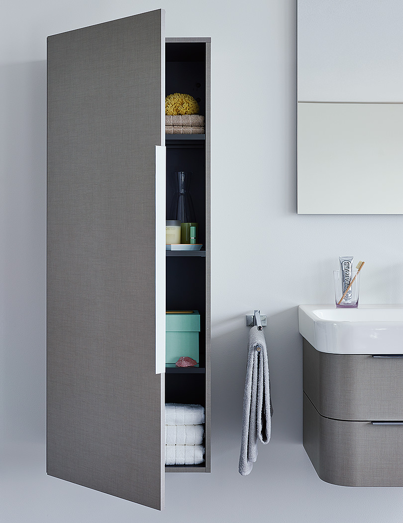 duravit happy d2 white gloss 500 x 240mm semi tall cabinet. Black Bedroom Furniture Sets. Home Design Ideas