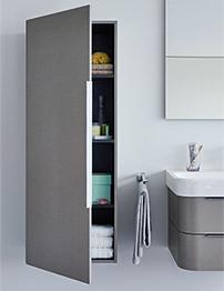 Duravit Happy D2 White Gloss 500 x 360mm Semi Tall Cabinet