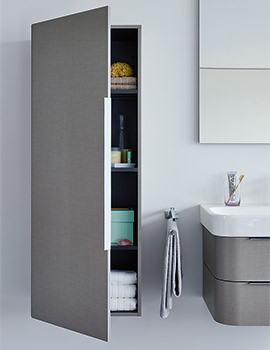 Duravit Happy D2 White Gloss 500 x 360mm Semi Tall Cabinet