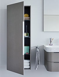 Duravit Happy D2 White Gloss 500 x 240mm Tall Cabinet