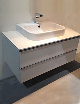 Duravit Happy D2 600 x 478mm White Vanity Unit With Console And Basin