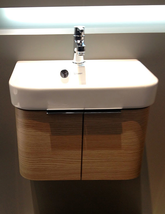 duravit happy d2 475mm white wall mounted vanity unit with basin. Black Bedroom Furniture Sets. Home Design Ideas
