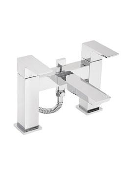 Tre Mercati Wilde Pillar Mounted Bath Shower Mixer Tap With Shower Kit