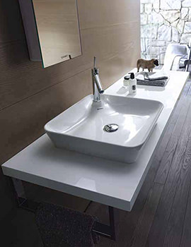 Duravit Happy D2 White Gloss 550mm Console With 1 Cut Out