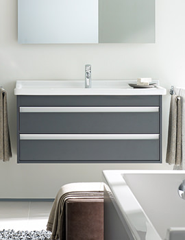 Duravit Ketho 800mm Double Drawer Vanity Unit With 850mm Basin