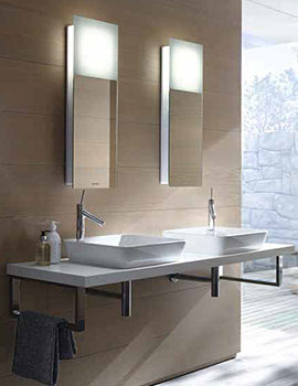 Duravit Happy D2 American Walnut 550mm Console With 2 Cut Out