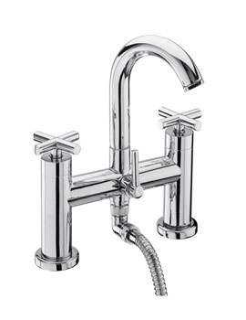 Tre Mercati Maverick Pillar Bath Shower Mixer Tap With Shower Kit