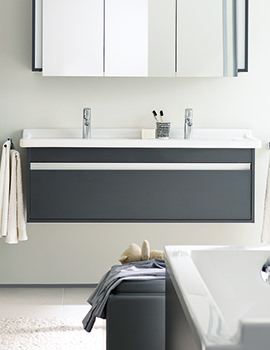 Duravit Ketho Single Drawer 1200mm Vanity Unit With 1300mm Basin