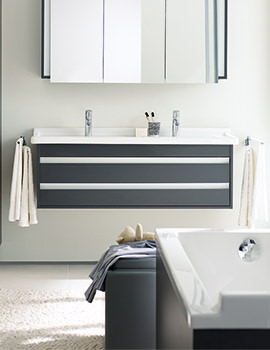 Duravit Ketho Double Drawer 1200mm Vanity Unit With 1300mm Basin