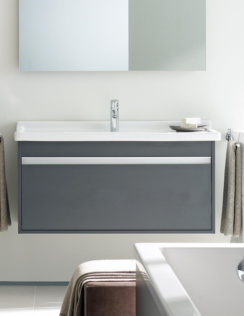 Duravit ketho single drawer 550mm vanity unit with 600mm basin - Duravit bathroom furniture uk ...