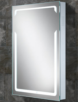HIB Vibe Portrait LED Back-Lit Bluetooth Mirror 500 x 700mm
