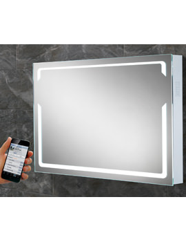 HIB Pulse Landscape LED Back-Lit Bluetooth Mirror 800 x 600mm