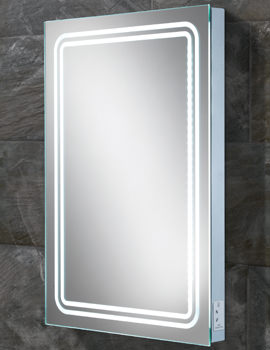 HIB Rotary Steam Free LED Back-Lit Mirror With Shaver Socket 500 x 700mm