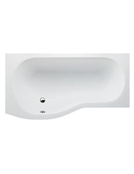 Britton Cleargreen EcoRound Shower Bath 1500 x 900mm Left Handed