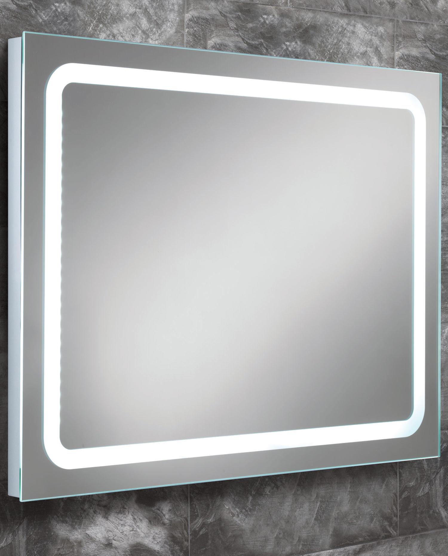 Hib Scarlet Steam Free Led Back Lit Bathroom Mirror 800 X 600mm