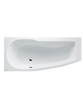 Britton Cleargreen EcoCurve 1700 x 750mm Left Hand Shower Bath