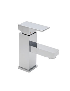 Tre Mercati Edge Shorter Spout Mini Mono Basin Mixer Tap With Pop Up Waste