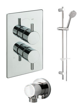 Tre Mercati Poppy Concealed Shower Valve With Slide Rail Kit And Wall Outlet