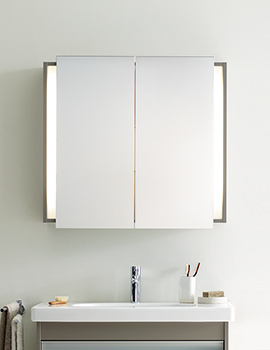 Duravit Ketho Graphite Matt 1000mm Mirror Cabinet