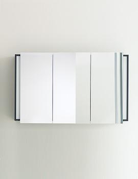 Duravit Ketho Graphite Matt 1200mm Mirror Cabinet