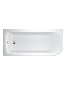 Britton Cleargreen Viride 1700 x 750mm Left Hand Offset Bath