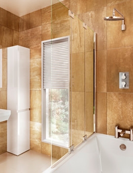 Cleargreen 1185 x 1450mm Two Fold Bathscreen With Fixed Panel Left