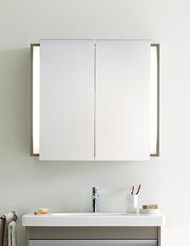 Duravit Ketho Graphite Matt 800mm Mirror Cabinet