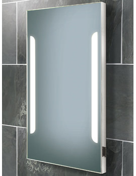 HIB Zenith Fluorescent Back-Lit Mirror With Shaver Socket 450 x 800mm