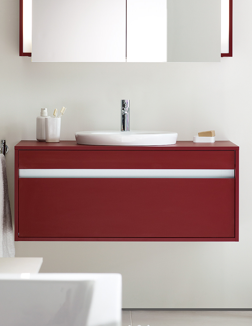 Red Bathroom Furniture Uk Duravit Ketho 550 X 800mm Garnet Red