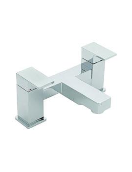 Tre Mercati Edge Pillar Mounted Bath Filler Tap Chrome