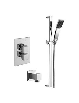 Tre Mercati Edge Concealed Valve With Slide Rail Kit And Wall Outlet