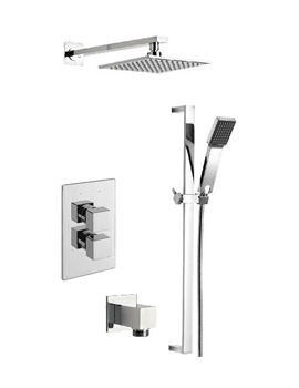 Tre Mercati Edge Concealed Shower Valve With 2 Way Diverter And Shower Set