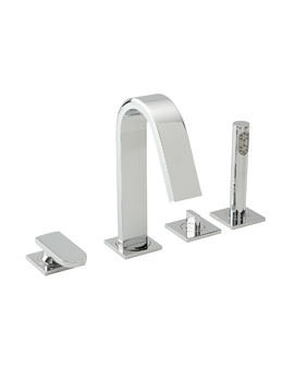 Tre Mercati Coast 4 Hole Bath Shower Mixer Tap With Kit