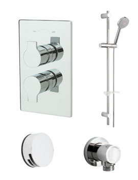 Tre Mercati Angle Concealed Shower Valve With 2 Way Diverter And Shower Set