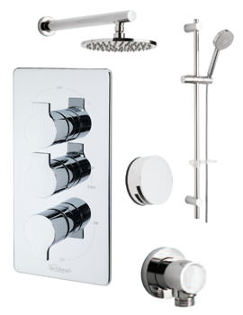 Tre Mercati Angle Concealed Valve With 3 Way Diverter And Shower Set