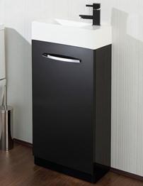 HIB Cassino Black Floor Standing Vanity Unit 400 x 740mm