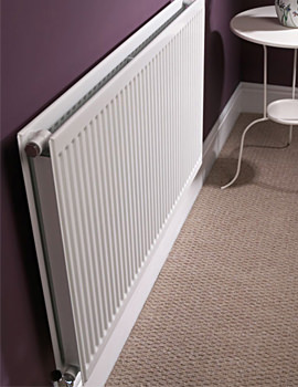 Quinn Round Top Double Panel Single Convector Radiator 900 x 400mm