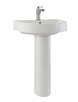 Phoenix Forma Round Basin And Full Pedestal 500mm