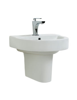 Phoenix Forma Round Basin With Semi Pedestal 560mm