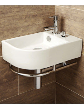 HIB Malo Africo Washbasin With Towel Rail And Soap Dispenser