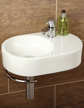 HIB Malo Saville Cloakroom Washbasin With Towel Rail