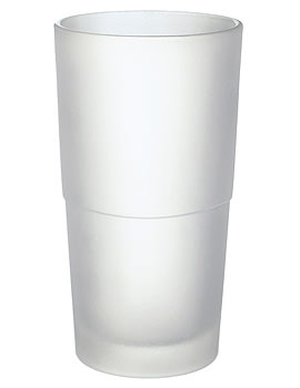 Smedbo Xtra Spare Frosted Glass Container For Toilet Brush