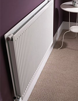 Quinn Round Top Double Panel Single Convector Radiator 1200 x 500mm