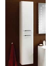 HIB Palamas 300 x 1500mm Tall Storage Unit White