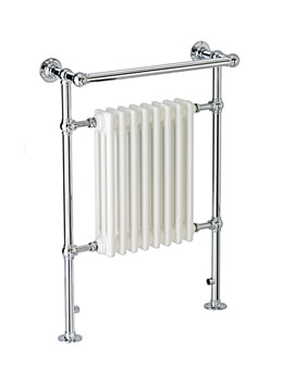 DQ Heating Ixworth 509 x 956mm Floor Mounted Towel Rail