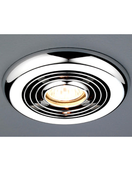 HIB Turbo Inline Chrome Ceiling Mounted Extractor Fan
