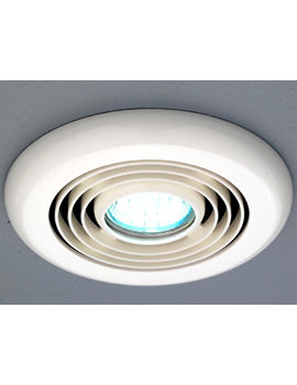 HIB Turbo Inline White Ceiling Mounted Extractor Fan