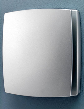 HIB Breeze Matt Silver Wall Mounted Fan With Timer And Humidity Sensor